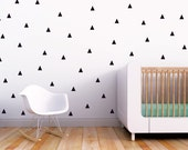 Wall Decal Nursery Kids Wall Decal Black Triangles Wall Decal Baby Nursery Wall Decal Monochrome Decor. Little Peaks Children Wall Decal