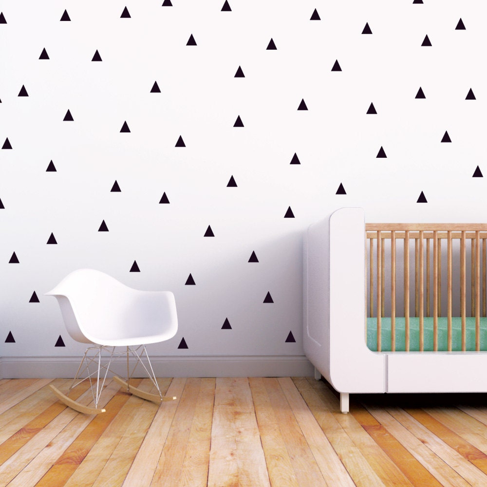 Wall Decal Black Triangle Baby Nursery Wall Decal Kids Wall