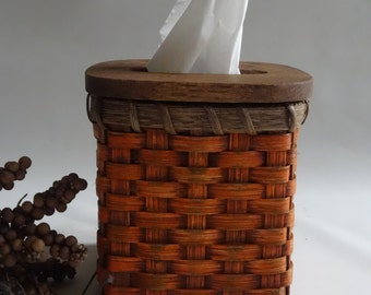 Tissue Basket /Tissue Cover-Primitive Style / Handwoven Basket