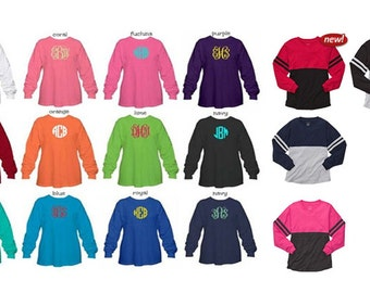 Monogrammed Pom Pom Jersey - Youth and Adult sizes in 19 different colors