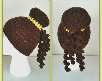 Princess Belle inspired wig hat