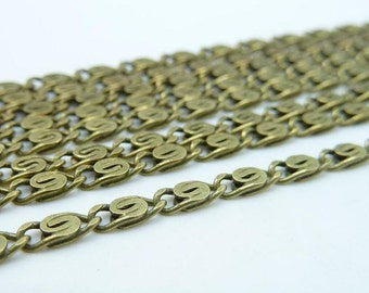 5meters  2.5mm Antique Bronze Brass  Flat Oval Chain E1027
