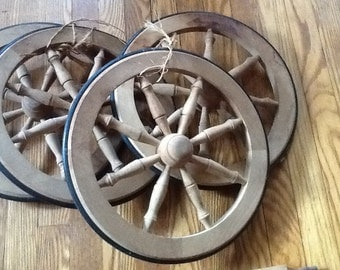 Antique Wood Wheels & Axles for Wagon Buggy Rare Set