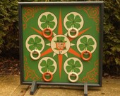 Saint Patrick's Day Ring Toss Game Board, Luck of the Irish, Saint Patty's Day, Ring Toss, Carnival Games, Game Boards, Wood Game Board