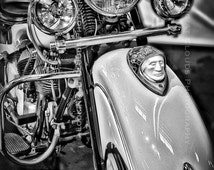 Indian, classic motorcycle art photo, black and white Indian motorcycle, vintage bike detail, biker art