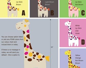 Fancy Giraffe Wall Decals - Jungle Wall Stickers - Safari Wall Decals