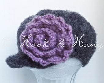 Handmade Felted Newsboy Hat