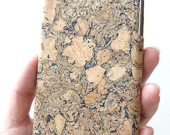 """Apple iPhone 6 6s 4.7"""" Unique Eco-Friendly Black Wood Cork Art Cellphone Cell Phone Cellular mobile smartphone Cover Hard Case"""