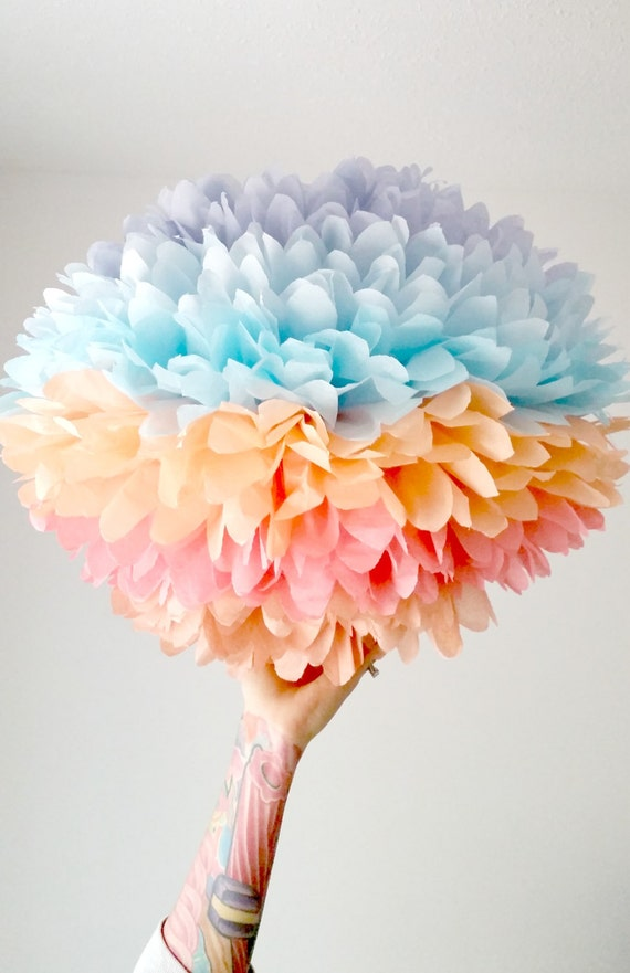 tissue paper wedding decorations items similar to decoration jumbo coral sunset 8017