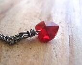 SALE!  Swarovski Heart, Sterling Silver Necklace - 20% OFF