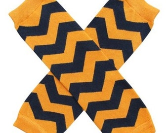Reduced!  Cute little black and orange chevron leggings leg warmers for infants and toddlers