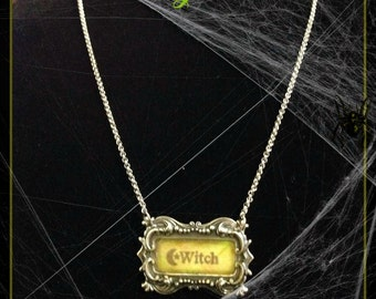 WITCH/ VAMPIRE Tag necklace
