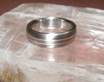 NEW Cobalt Chrome 14k Triple Element  DOME Wedding Ring