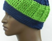 Men's Winter Beanies Crochet Skull Caps Ear warmers Guys and Teen Boys Beanie Hats In Green And Navy Blue