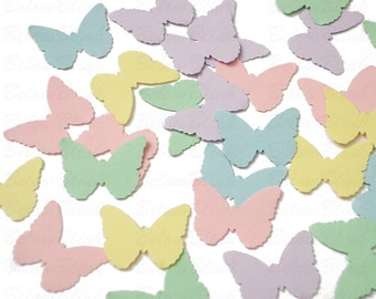 100 Pastel Butterflies punch die cut confetti scrapbook embellishments - No985