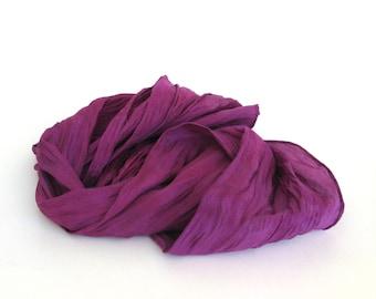 SALE ...   hand dyed silk scarf  ...  purple and violet  ...  habotai silk