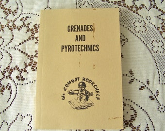 Vintage Army Manual Grenades And Pyrotechnics Field Manual Survival Manual US Army Manual 1959 Gift for Dad
