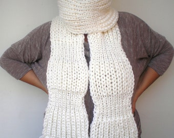 Wave Rib Chunky  Scarf Hand Knit Scarf  Soft  mixed Woman/Men Scarf NEW