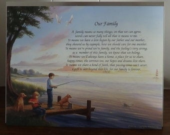 Our Family Poem, Art Background High Quality, Fishing
