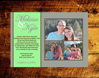 custom wedding invitations, wedding announcement, photo wedding invitations, modern wedding invitations, wedding invitations
