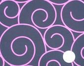 Pink Swirl Fabric, Cotton Fabric, Fat Quarters, Children Fabric, Fancy Fabric, Girl Fabric