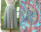 Pastel Paisley Vintage Skirt