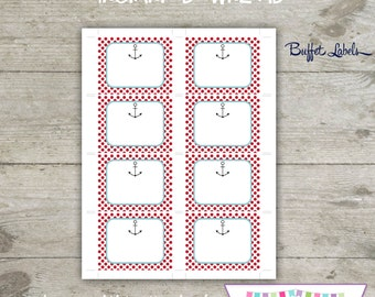 INSTANT DOWNLOAD - Large Buffet Labels - Pirate Printable