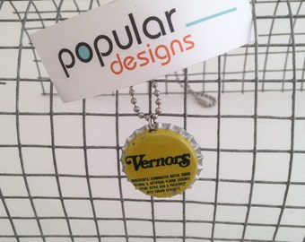 Vernor's made in Michigan Soda Pop Bottle Cap Necklace