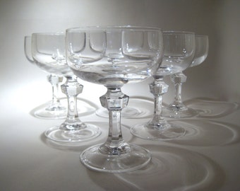 set of 6 cristal d 39 arques champagne flutes by hazelroberts. Black Bedroom Furniture Sets. Home Design Ideas