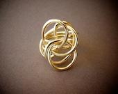 Grande Brass Twist Ring