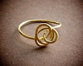 Petite Brass Twist Ring