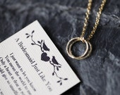 BRIDESMAIDS Infinity Circles Necklace with Poem Card, Bridesmaids Infinity Necklace, Will You Be My Bridesmaid? 14k Gold Plated, Gift