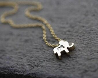 ADD Elephant Charm to Any Bangle, Bracelet or Necklace You Order, ADD initial elephant charm, gold elephant charm, monogram elephant