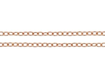 14Kt Rose Gold Filled 1.8mm Cable Chain - 5ft (4813-5) Sturdy chain Made in USA 10% discounted Lowest  Price wholesale quantity