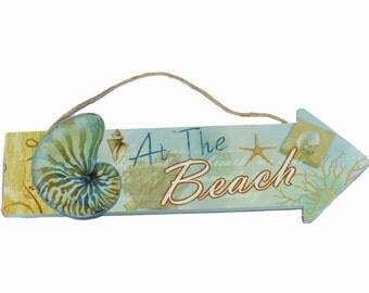 Wooden Beach Sign for the Beach House!