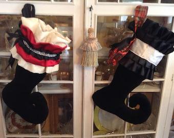 Fabulous Black Tie Gala Holiday Stocking/Custom/Sold