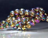 21 pcs Rainbow Window Glass 8mm Antique Style Window Glass Crystal Beads