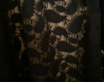 Beautiful Black Stretch Lace 50 Inches Wide