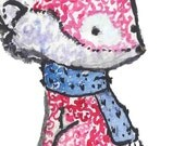 Fox Theme Nursery- Woodland Style Print- 3 archival print sizes- The Snow Fox
