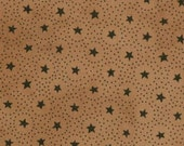 Words to Live By Cotton Primitive Seasonal Gatherings Treenware Tan Circle Stars by Primitive Gatherings