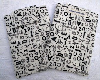 Kindle Paperwhite Case, Kindle Paperwhite Sleeve, Kindle Paperwhite Cover - Kindle Voyage - alphabet