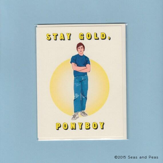 STAY GOLD PONYBOY The Outsiders Ponyboy C Thomas Howell – Thomas Valentine Cards