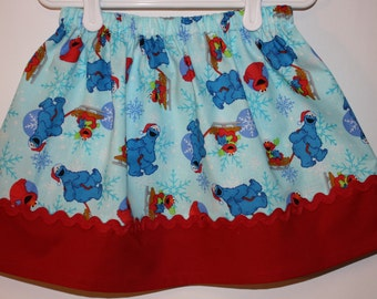 Cookie Monster Skirt  Size 2 to 7
