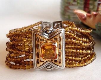 MX signed Amber Beaded Bracelet