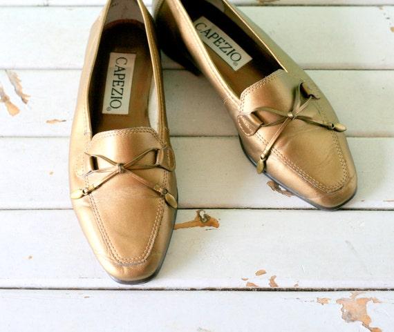 Xoxo Bronze Shoes Flats