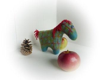 Felted pony. Wool horse. Eco friendly toy. Boheme nursery decor. Borisz
