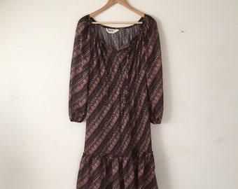 Boho Dress with Ruffle Medium