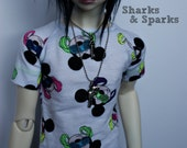 BJD Tee shirt  SD/Dollshe Size