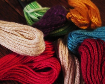 Beautiful, Colorful, Vintage Embroidery Thread.  G-363