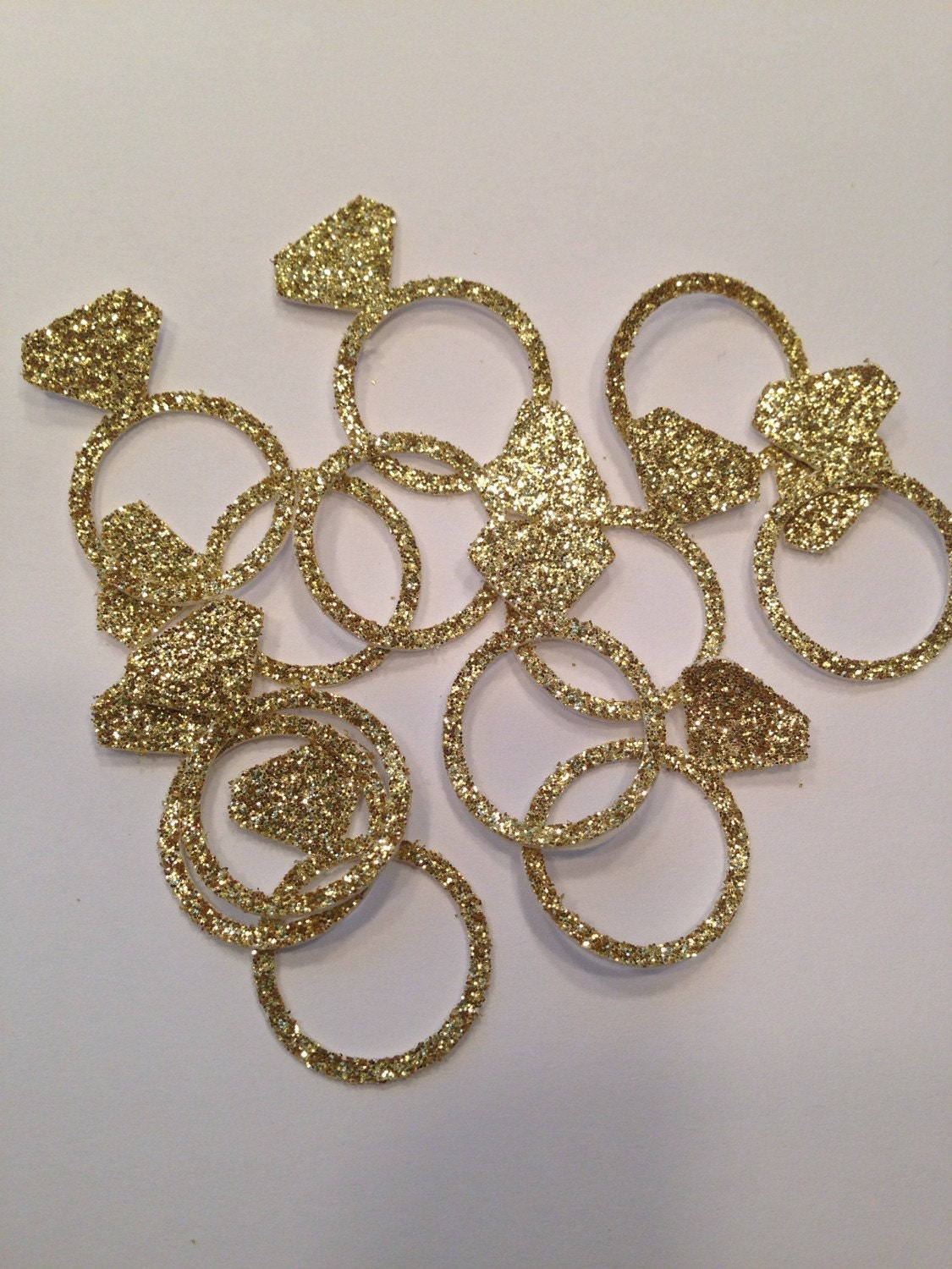 Engagement ring confetti gold confetti glitter confetti for 5 golden rings decorations